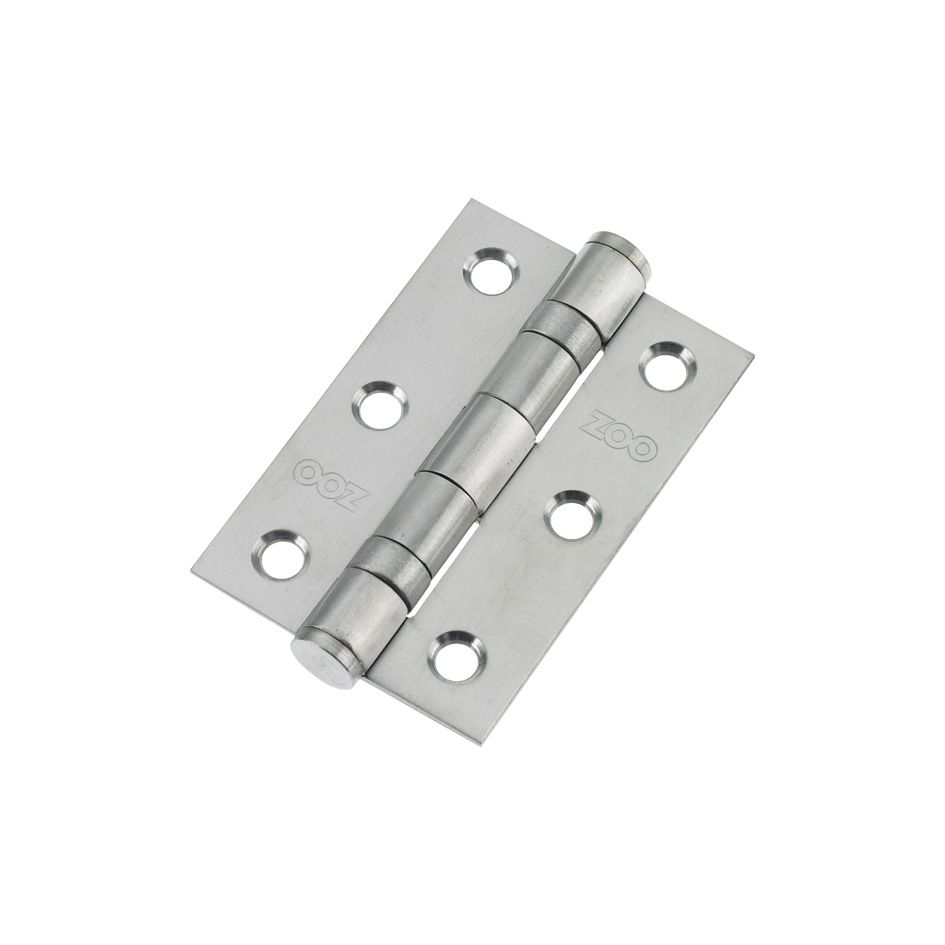 3 Ball Bearing Hinges Satin Chrome